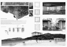 TEMPORARY&NOMAD_NMARCHITECTURE[NUNOMOTA]PORTUGAL | por rethinkingcompetitions Architecture Portfolio Template, Architecture Board, Concept Architecture, Amazing Architecture, Architecture Design, Presentation Board Design, Architecture Presentation Board, Poster Layout, Layout Design