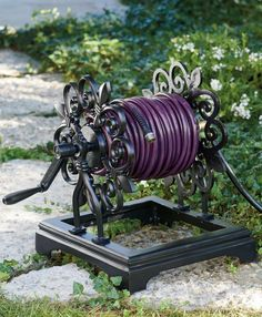 Come rain, shine, or even heavy winds, our Fleur-de-Lys Hose Reel is designed to sit securely and maintains its handsome good looks as well as exceptional durability over time. Reel is hand-crafted from heavy-duty, cast aluminum and given a powdercoat finish to resist rust and other corrosive effects of outdoor living. Garden Oasis, Lawn And Garden, Tall Planters, Lawn Sign, Hose Reel, Grandin Road, Brass Fittings, Flower Boxes, Garden Sculpture