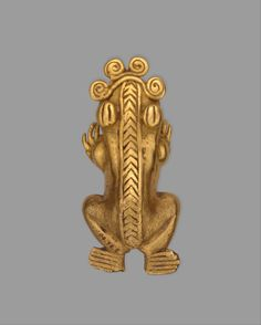Frog pendant  Metal, Gold, Pendants, North and Central America, Panama, 11th–16th century, Chiriqui (?), Gold (cast), Metropolitan Museum of Art