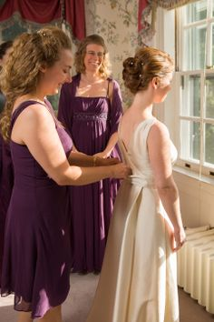 Have your bridesmaids in the background to hide things you don't want to show in the photograph (i.e. air conditioning units in windows). Susanna and Paul's Joyful Wedding at the Bradley Estate » Fucci's Photos of Boston | Boston Wedding Photographer