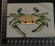 Custom Ceramic Tile Mosaic Blue Crab 8 x Baby Sea Turtles, Mosaic Crafts, Handmade Tiles, Ceramic Clay, Mosaic Tiles, Ceramics, Blue, Surface, Etsy
