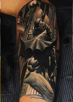 Pictures : Half Sleeve Tattoos for Men - Batman Half Sleeve Tattoo