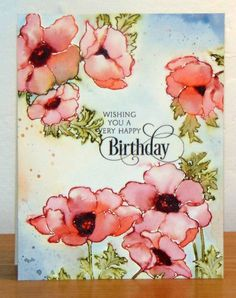 Coquelicots by Micheline Jourdain - Cards and Paper Crafts at Splitcoaststampers