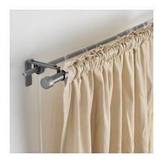 IKEA - RÄCKA / HUGAD, Combi tringle à rideaux double, Vous pouvez combiner deux couches de rideaux, épais ou fins, en utilisant le rail triple.Longueur réglable.