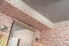 Wallpaper wall - ceiling
