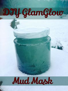 DIY GlamGlow Mud Mask   Directions for making this charcoal face mask CHEAP using ingredients at home.