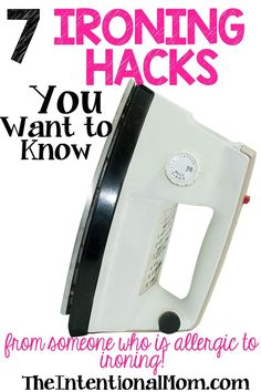 """Do you find yourself """"allergic"""" to ironing as I am? Would you rather clean toilets than iron? I would! Here are 7 EASY ironing hacks that have worked for me"""