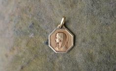 Antique religious medal Lourdes pendant by ForTheLoveOfFrance