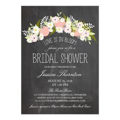 Discount DealsChalkboard Flowers in Bloom Bridal Shower Personalized Inviteso please read the important details before your purchasing anyway here is the best buy