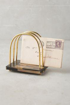 Gilded Horn Desk Collection - anthropologie.com