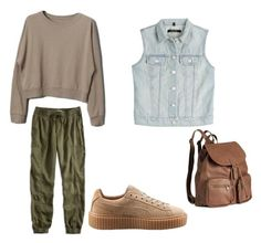 """""""Untitled #188"""" by stefaniacristiana on Polyvore featuring Lucky Brand, Puma, J Brand and H&M"""