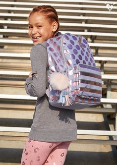 Shimmer and shine and smile! Sporty Outfits, Girl Outfits, Fashion Outfits, Tween Girls, Cute Girls, Camo Denim Jacket, Justice Bags, Justice Accessories, Bag Display