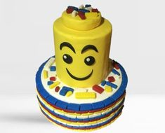 Kids Lego Cake Lego For Kids, Lego Cake, Cake Shop, Minions, Wedding Cakes, Create, Wedding Gown Cakes, Patisserie, The Minions