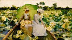 Charles Courtney #Curran Lotus Lilies, 1888 Buon inizio settimana