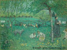 Le Grand Jardin entre 1894 et 1895 Bonnard Huile sur toile Musée d'Orsay