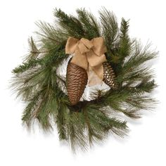 National Tree Company 30 in. Wreath with Burlap Ribbon - RAC-W060658A