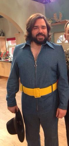 Matt Berry on the set of House of Fools