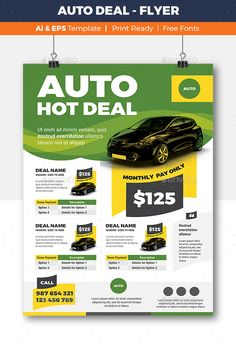 Auto Deal - Flyer EPS Template  • Only available here ➝ http://graphicriver.net/item/auto-deal-flyer-template/16836719?ref=pxcr