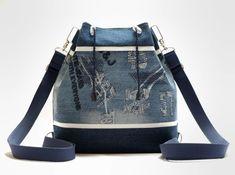 S džínovým štepováním I (kabelko-batůžek)