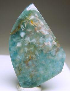 Gilalite Inclusions in Quartz, 16.70 carats ~ Paraiba, Brazil