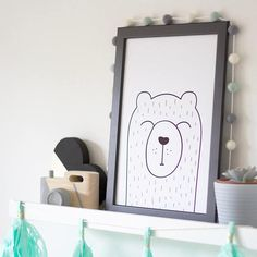 Bear Print Teddy Bear Print Teddy Print Nursery Print & Ice lolly Print - Ice lolly poster - Cool kid Print - Cool kid wall ...