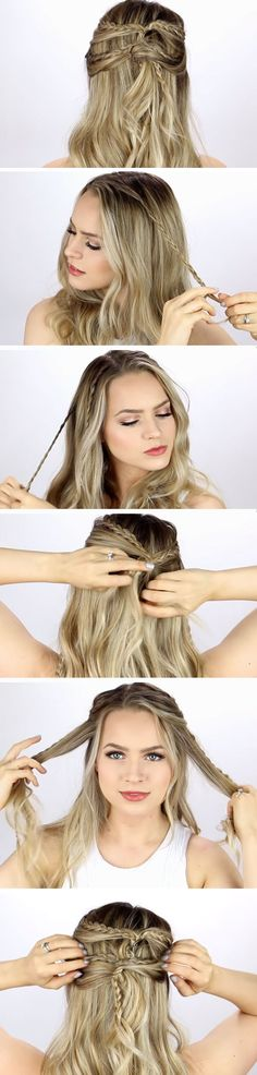 Half Up Half Down   DIY Wedding Hairstyles for Medium Hair   Easy Bridesmaids Hairstyles for Long Hair