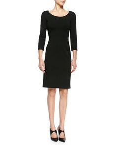 B2WD0 Armani Collezioni Double-Face Jersey Sheath Dress