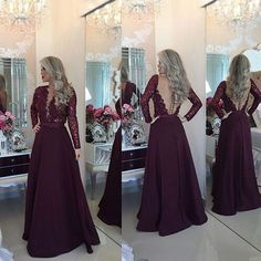 Burgundy Mermaid Long Prom Dresses,Prom Gowns,Sexy Burgundy Prom Women Dress,Evening Dress,Backless Prom Party Dress