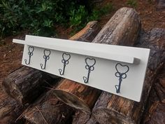Country Chic or Farmhouse Decor Rustic Coat Rack