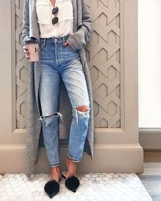 relaxed denim and mules