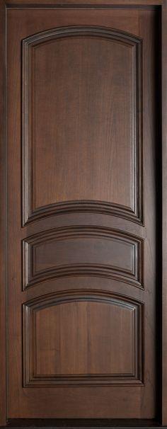 Mahogany Solid Wood Front Entry Door - Single - April 29 2019 at Single Door Design, Wooden Front Door Design, Double Door Design, Wood Front Doors, Wooden Doors, Entry Doors, Front Entry, Door Design Interior, Interior Barn Doors