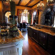 Tuscan design – Mediterranean Home Decor Luxury Kitchen Design, Tuscan Design, Mediterranean Home Decor, Tuscan Decorating, Old World, French Country, Liquor Cabinet, Mansions, Inspiration