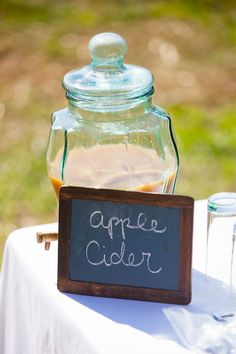Apple cider makes a great Fall wedding drink!  And we can get Sarah to make the soup!  Butternut squash!