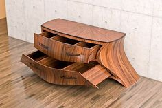 Get this amazing resource that's full of Cool Woodworking Projects & Wood Crafts. Unusual wood craft designs & Great value to put your skills to the test. Funky Furniture, Art Furniture, Unique Furniture, Furniture Design, Furniture Projects, Luxury Furniture, Japanese Furniture, Dresser Furniture, Timber Furniture