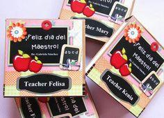 Libretitas personalizadas día del maestro 2015 . Mini notebook Teacher day Facebook crafts by iris / instagram @craftsbyiris