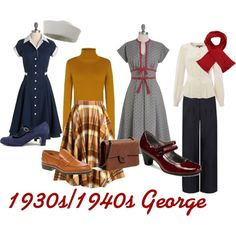 """""""1930s/1940s George"""" by redpepper-1 on Polyvore"""