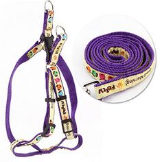 Petmuch Lovely Dog Heart Print Purple Nylon Harness and Leash Small Purple * Check this awesome product by going to the link at the image.Note:It is affiliate link to Amazon.