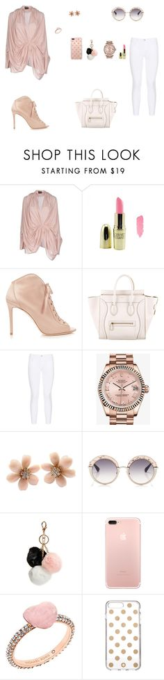 """Look do Dia"" by julianaf121 ❤ liked on Polyvore featuring Tom Ford, Gerard Cosmetics, Jimmy Choo, CÉLINE, J Brand, Rolex, Van Cleef & Arpels, Gotha, GUESS and Michael Kors"