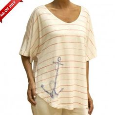 NAUTICAL RELAXED VNECK T-SHIRT