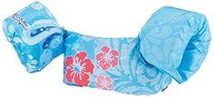 Stearns Puddle Jumper Deluxe Life Jacket, Blue Flower, 30...