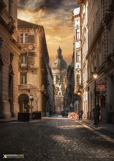 Springtime morning ~ in the city of Budapest, Hungary