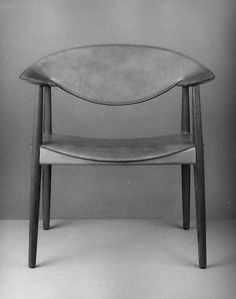 Armchair Artist: Jacob Kjaer (Danish, 1896–1957) Date: 1949 Medium: Teak wood, ox-hide Dimensions: H. 31-3/16, W. 30-1/8, D. 19-1/4 in. (79.2 x 76.5 x 48.9 cm.)