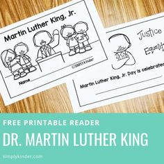 Free Martin Luther King Reader - Simply Kinder