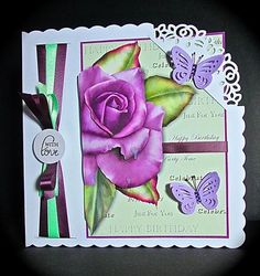 Card Gallery - Vintage Rose Offset Card Mini Kit