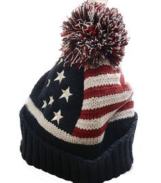 Wholesale Cheap Usa American Flag Beanie Hat Wool Winter Warm Knitted Caps  Hats For Man And Women Skullies Cool Beanie 443aeaad6a23