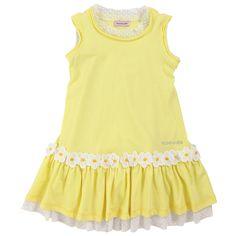 Monnalisa Light yellow tank top dress Amarillo - 31491   Melijoe.com