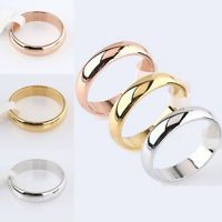 4MM Simple Titanium Ring for Men and Women Wedding Stainless Steel Ring Band