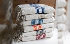 Simple and Sustainable: Ethiopian Stripes Towels by Creative Women - Purchases help promote women's economic independence.