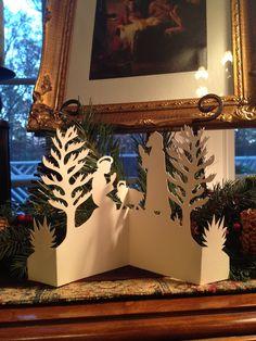 Scherenschnitte Christmas manger scene by Donna