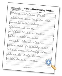 Great worksheets for cursive practice and mastery. I love that I can create a customized practice sheet, which helps keep my daughter really focused.